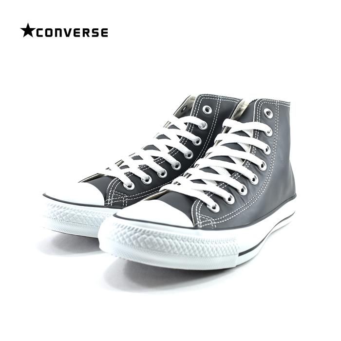 コンバース CONVERSELEA ALL STAR HI LEA オールスター HI LEATHER レザー ハイカット 通学・通勤 32044991 ブラック・黒・クロ(BLACK(25cm~)) 1B90 スニーカー メンズ ユニセックス シューズ 靴