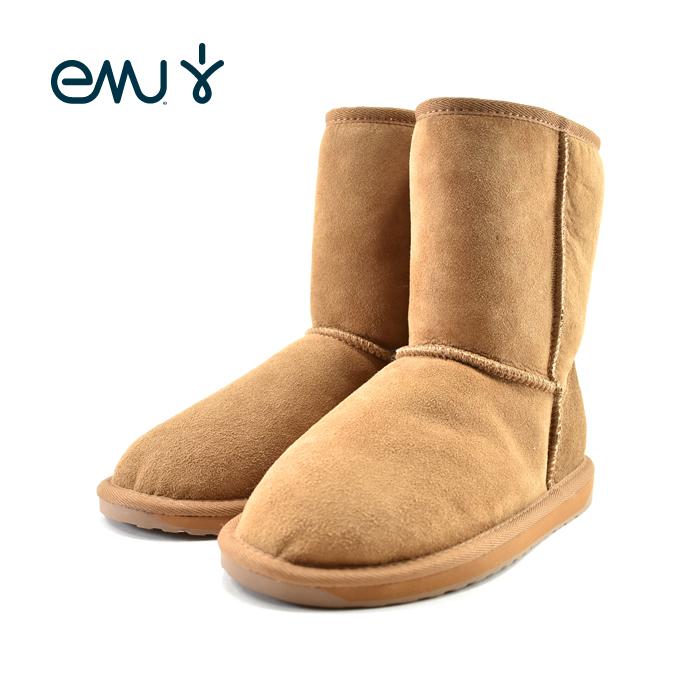 20% OFF SALEエミュ EMUStinger Lo スティンガー ロー ムートンブーツ 本革 シープスキン ウール 羊皮 ハーフ丈 ボア ウィンター チェスナット ベージュ(Chestnut) W10002 ブーツ スノーシューズ レディース シューズ 靴 セール品