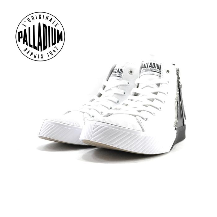 パラディウム PALLADIUMPALLAPHOENIX Z 2TONE パラフェニックス ジップ 2トーン ハイカット 通学・通勤 カジュアル ホワイト/ ブラック 黒・クロ(WHITE/BLACK(~24.5cm)) 75953 スニーカー レディース ユニセックス シューズ 靴