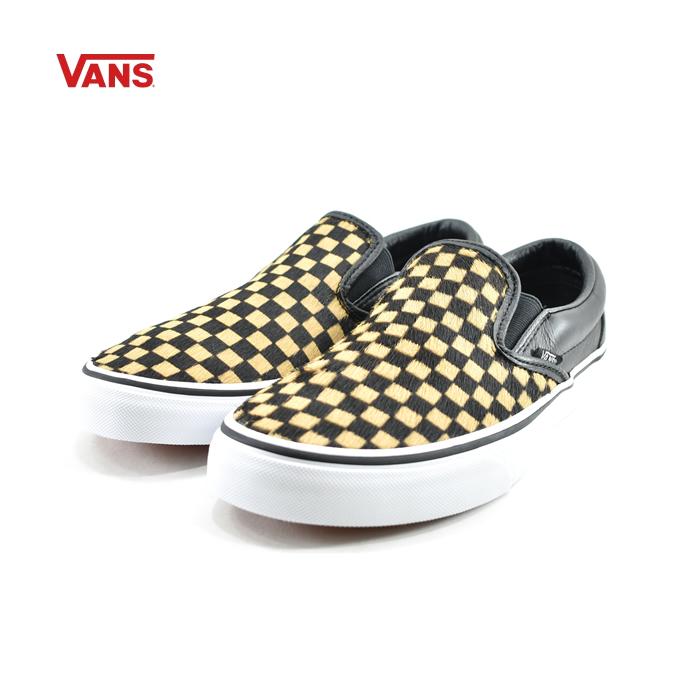 ヴァンズ VANSバンズ CLASSIC SLIP-ON クラシックスリッポン スリップオン カジュアル (カーフヘアー)チェッカーボード/トゥルーホワイト((CALF HAIR)CHECKERBOARD/(25cm~)) VN0A38F7 スリッポン メンズ ユニセックス シューズ 靴