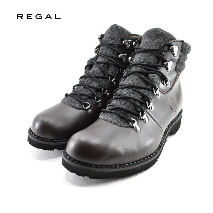 20% OFF SALEリーガル REGALマウンテンブーツ GORE-TEX ゴアテックス 防水 アウトドアブーツ 通学・通勤 茶(ダークブラウン) 55RRBG ブーツ メンズ シューズ 靴 セール品
