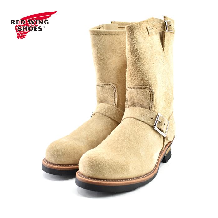 """[取寄せ可] レッドウィング RED WING11″ Engineer (Steel-toe) """"Stovepipe"""" 11インチ エンジニア(スティールトゥ) 鉄芯入り ブルハイド ラフアウト ベージュ(タン) 9269 エンジニアブーツ メンズ シューズ 靴"""