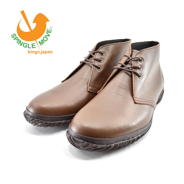 スピングルムーヴ SPINGLE MOVEムーブ ムーヴ ビズ チャッカブーツ 日本製 カウレザー 牛革 本革 撥水 ビジネス・紳士 ライトブラウン 茶(LIGHT BROWN) BIZ133 チャッカブーツ メンズ シューズ 靴