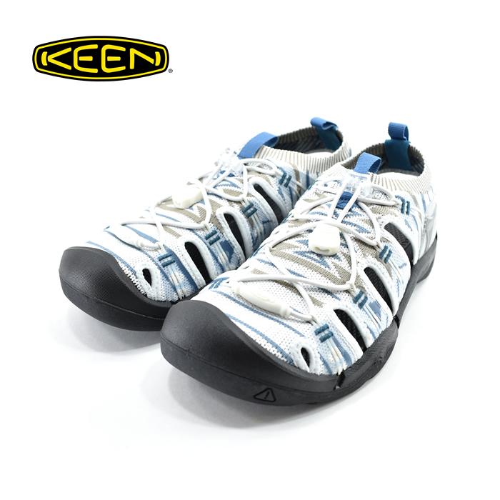 キーン KEENEVOFIT 1 エヴォフィット 1 アウトドア スポサン スポーツサンダル フェス ニット グレイッシュホワイト/ブラック 白・シロ(GRAYISH WHITE/BLACK) 1021395 サンダル メンズ シューズ 靴