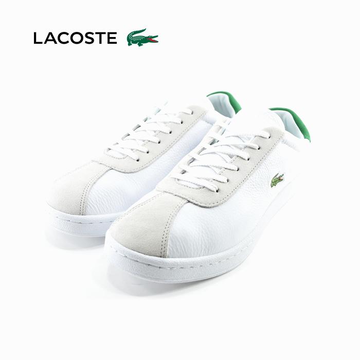 ラコステ LACOSTEMASTERS 119 2 マスターズ 119 2 ローカット レザー 通学・通勤 ホワイト/グリーン 白・シロ(WHITE/GREEN) SMA0034 スニーカー メンズ シューズ 靴