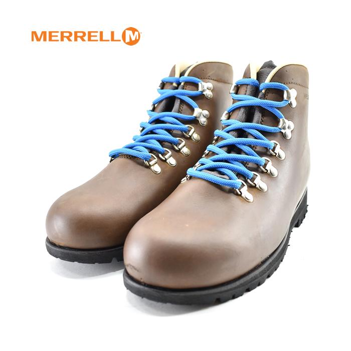 メレル MERRELLLEATHER レザー ハイカット レザー イタリア製 カジュアル スニーカー ブラウン(BROWN/MOGANO) J1027 ブーツ メンズ シューズ 靴