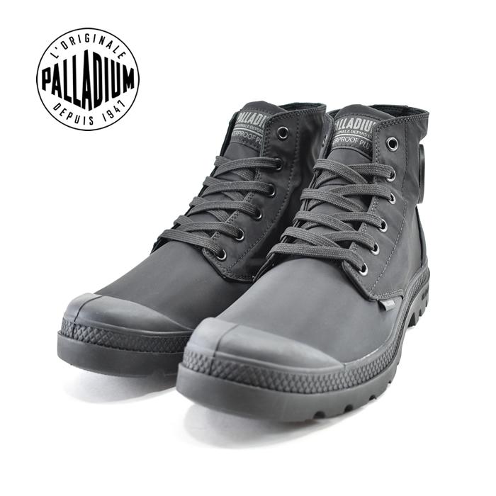 パラディウム PALLADIUMPAMPA PUDDLE LITE WPD+ パンパ パドル ライト ウォーター プルーフ+ 防水 撥水 レインブーツ レインシューズ ブラック/ブラック/チャコール 黒・クロ(BLACK/BLACK/CHARCOAL(~24.5cm)) 76357 スニーカー レディース ユニセックス 靴