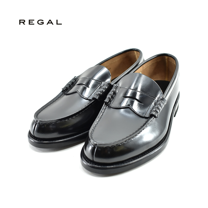 リーガル REGALローファー モカ コインストラップ ビジネスシューズ カジュアル 紳士 EE 2E 本革 牛革 レザー ブラック・黒・クロ(BLACK) 2177N ローファー メンズ シューズ 靴