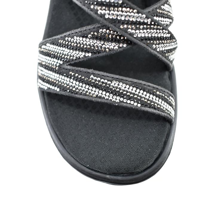 20% OFF SALE スケッチャーズ SKECHERS RUMBLERS MEGA FLASH Rambler mega flashline stone bijou mule wedge heel shoes wedge sole black silver black, black