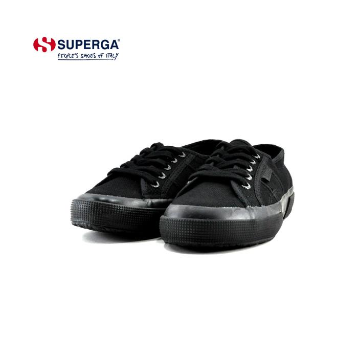SUPERGA スニーカー スペルガ 流行のアイテム SUPERGA2750 セール価格 COTU CLASSIC クラシック ローカット キャンバス カジュアル 通勤 通学 S000010 レディース トータルブラック 黒 TOTAL BLACK ~24.5cm クロ シューズ ユニセックス 靴