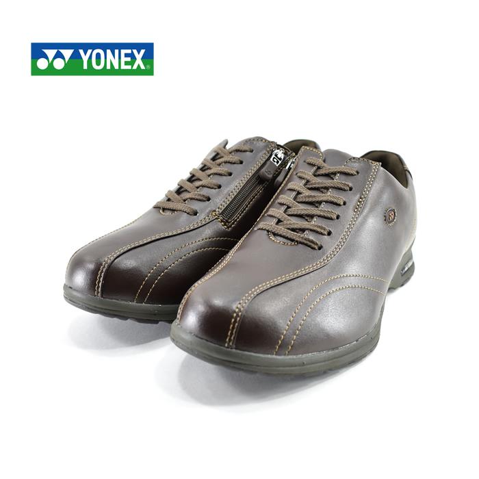ヨネックス YONEXウォーキングシューズ カジュアルウォーク パワークッション 4.5E 撥水 旅行 観光 レジャー ダークブラウン 茶(DARK BROWN) MC30W ウォーキングシューズ メンズ シューズ 靴