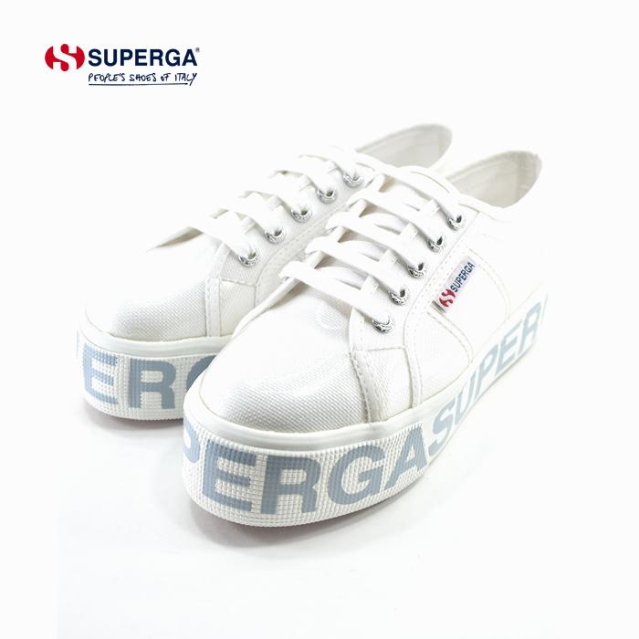 スペルガ SUPERGA2790 COTTRANSPLETTERING W PVCコーティングスニーカー プラットフォーム 厚底 キャンバス ローカット カジュアル ホワイト 白 シロ(WHITE) S00GT80 スニーカー レディース シューズ 靴