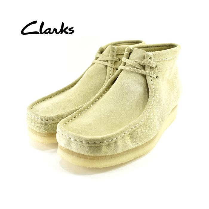 クラークス ClarksWallabee Boot ワラビーブーツ チャッカ デザート ショートブーツ 本革 レザー クレープソール 2E EE 26133283 メイプルスエード ベージュ81(Maple Suede) 980ETR3 チャッカブーツ メンズ シューズ 靴