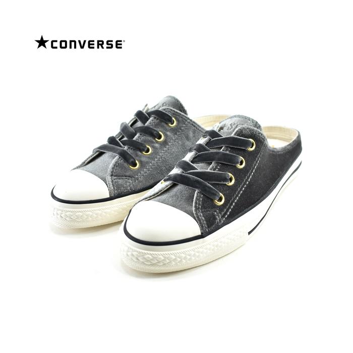 コンバース CONVERSEALL STAR S VELVET MULE OX オールスター S ベルベット ミュール OX オックス サンダル ベロア ビロード 31301032 グレー 91(チャコール(~24.5cm)) 5CL591 スニーカー レディース ユニセックス シューズ 靴