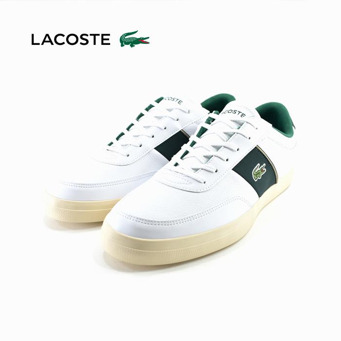 ラコステ LACOSTECOURT MASTER 319 6 コート マスター 319 6 ローカット ホワイト/ダークグリーン 白 シロ 81(WHT/DK GRN) CMA066L スニーカー メンズ シューズ 靴