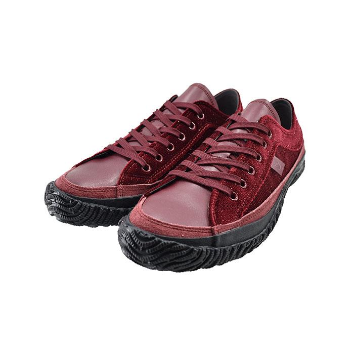 スピングルムーヴ SPINGLE MOVEムーブ ローカット スペイン製ベルベッド ラメ キラキラ 日本製 カウレザー 本革 牛革 赤 111(レッド(~24.5cm)) SPM159 スニーカー レディース ユニセックス シューズ 靴