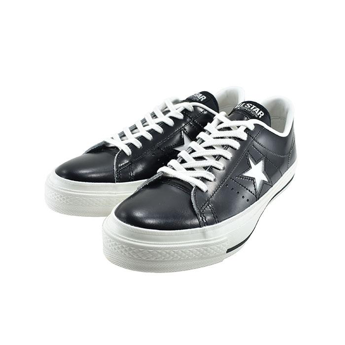 コンバース レザー ローカット 32346511 メンズ J ワンスター オックス 通勤 靴 STAR スニーカー 定番 ブラック/ホワイト 本革 クロ 黒 OX 日本製 シューズ J 通学 CONVERSEONE 12(BLK/WHT)