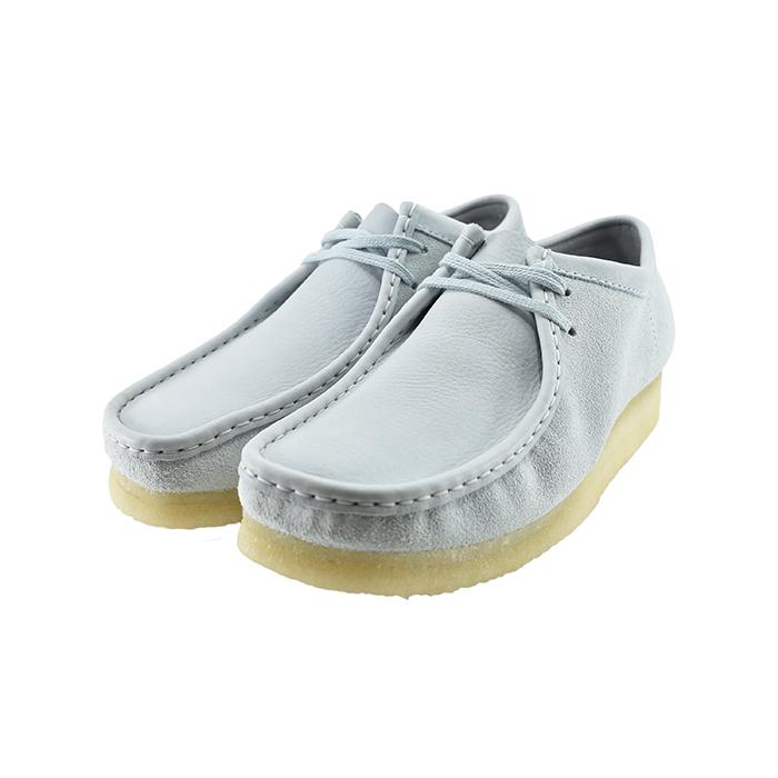 クラークス ClarksWallabee ワラビー チャッカ デザート ショートブーツ スクエアトゥ クレープソール 26148595 ライトブルーコンビ 12(Light Blue Combi) 979ETR3 ブーツ メンズ シューズ 靴