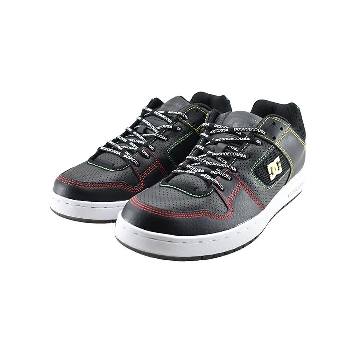 ディーシー DCMANTECA SE マンテカ SE ローカット カラフル ボーダー スケーター スケートボート ADYS100314 ブラック/マルチ 黒 クロ 12(BLACK/MULTI(25cm~)) DM201026 スニーカー メンズ ユニセックス シューズ 靴