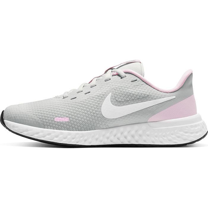 Nike スニーカー ナイキ NikeREVOLUTION 5 GS 優先配送 レボリューション ローカット 子供用運動靴 ヒモ 紐 レースアップ 運動会 通学 通園 子供 グレー ホワイト フォトンダスト ジュニア BQ5671 63 PHOTON 靴 DUST 女の子 キッズ シューズ WHITE 上質