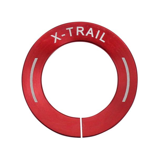 新品 インテリア 迅速な対応で商品をお届け致します ドレスアップ スターターリング 毎日続々入荷 日産 NISSAN X-TRAIL T32 NT32 HT32 HNT32 専用 アクセサリー エクストレイル T32型 カバー ボタン スイッチ リング スターター パーツ エンジン プッシュ カスタム 内装 純正適合 レッド スタート