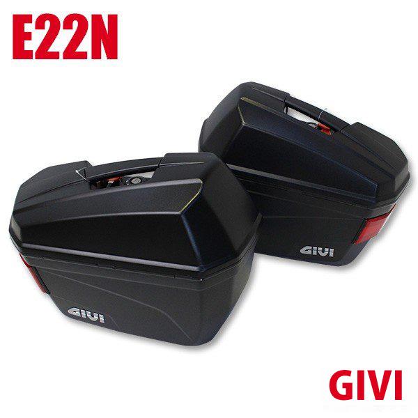 新品 バイク サイドケース サイドボックス 人気ブランド GIVI 原付 スクーター ビックバイク におすすめ! パニアケース サイドバッグ バイク用品が激安価格! エントリーでポイント10倍! GIVI ジビ サイドケース リアボックス パニアケース 未塗装ブラック 容量 22L E22N バイク用ボックス GIVI製 高品質サイドボックス