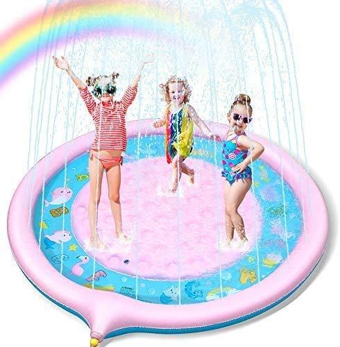 噴水マット プレイマット 噴水プール 170CM直径 ビニールプール おもちゃプレイマット 夏の日 芝生遊び 家庭用 子供用 親子遊び 誕生日プレゼント ※ラッピング ※ アウトドア 新品未使用正規品 水遊び