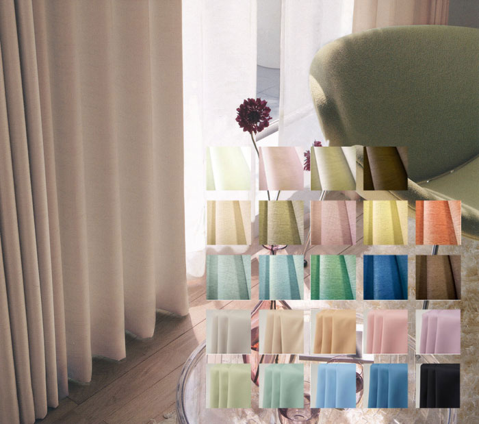 Design life to order curtains [plain] shape stability
