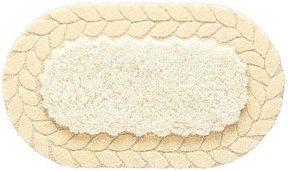 シンプル ニット柄 マット【サイズ:約70cm×120cm】楕円形 日本製水洗い・丸洗いOK 滑り止め 防ダニ