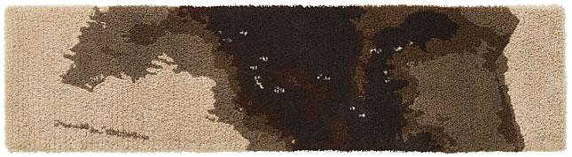 マップデザイン マット【サイズ:約50cm×200cm】日本製水洗い・丸洗いOK 滑り止め 防ダニ