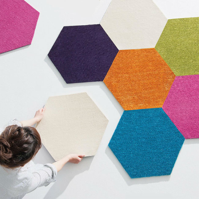 Dream Interior Hexagon Accent タイルラグ Suminoe Rolling Carpet