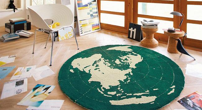 グリーンアース ラグ カーペット【サイズ:円形148cm×148cm】【日本製】防ダニ加工 床暖対応・ホットカーペット対応