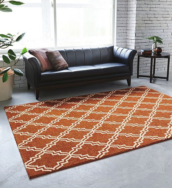 レトロモダン調 絨毯 じゅうたん 全2色ベルギー製 ウィルトンカーペット【サイズ:約200cm×250cm】