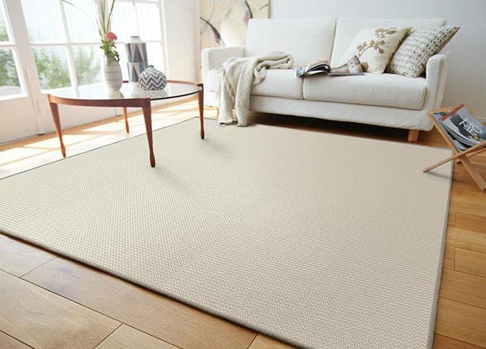 平織り ウール ラグ カーペット【サイズ:約190cm×240cm】日本製防炎加工、防ダニ ウール100% 織物床暖対応・ホットカーペット対応