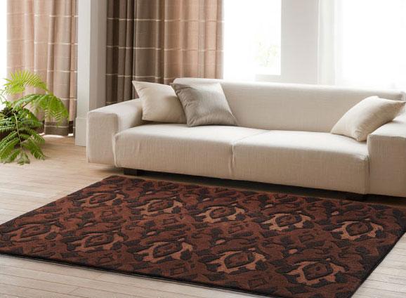 NEXT HOME ブーケ ラグ【カラー:ブラウン】【サイズ:140cm×200cm】床暖房・ホットカーペット対応
