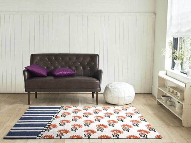 NEXT HOME マラティ ラグ カーペット[maltr]【カラー:オレンジ】【サイズ:140cm×200cm】床暖房・ホットカーペット対応
