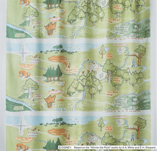 Disney Winnie the Pooh 100 acre wood Voile lace curtain Disney POOH voile curtain WASHABLE! washable ready made curtains