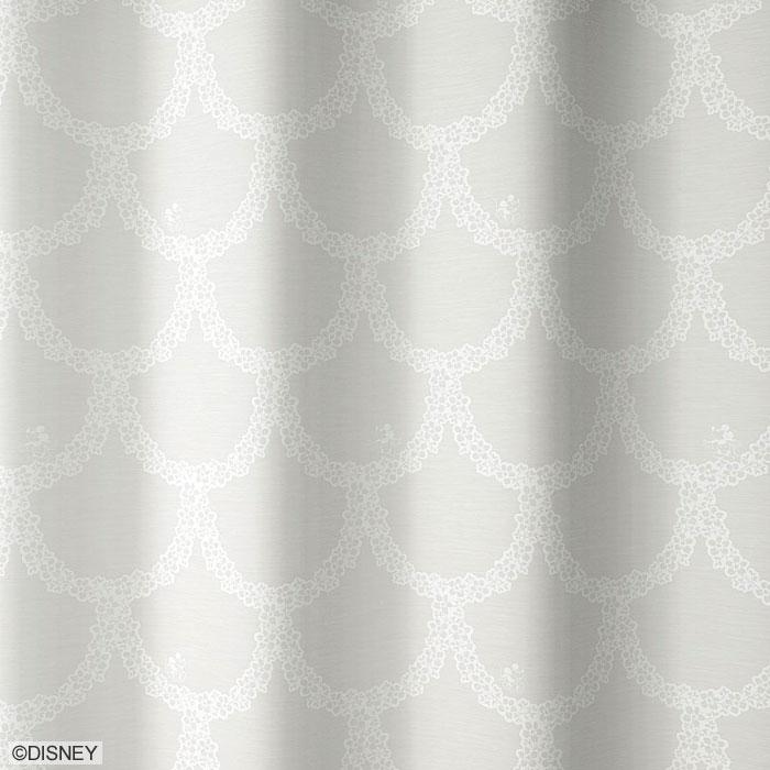 ディズニー ミッキー フラワーリース レースカーテン【サイズ:幅100cm×丈176cm】【2枚組】disney MICKEY Flower wreath lace curtain丸洗いOK!ウォッシャブル 既製カーテン【日本製】