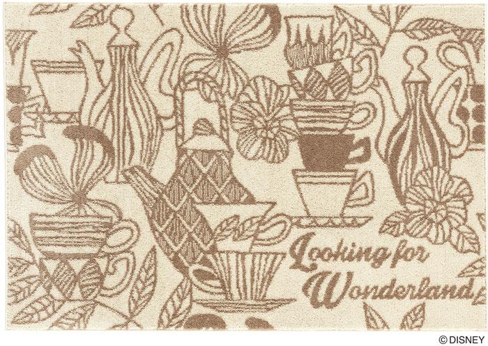 ディズニー スミノエ ラグマットシリーズアリス ティーカップ ラグ カーペット【サイズ:約130cm×190cm】【日本製】Disney/ALICE/Tea cup RUG【DRA-1058】