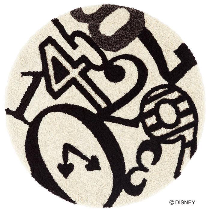 ディズニー スミノエ ラグマットシリーズアリス クロック ラグ カーペット【サイズ:約90cm×90cm円形】【日本製】Disney/ALICE/Clock RUG【DRA-4050】