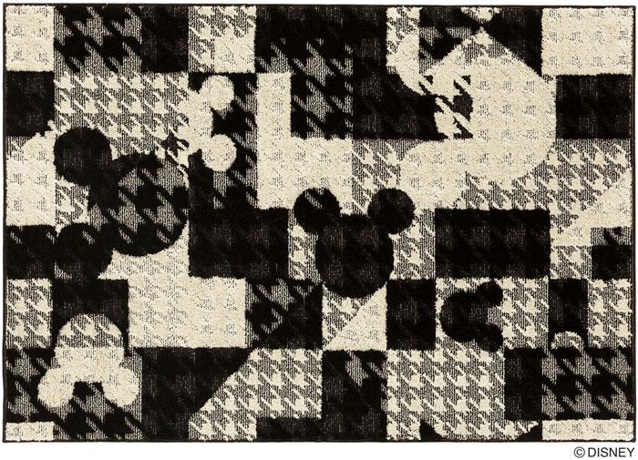 ディズニー スミノエ ラグマットシリーズミッキー ジオメトリーサークル ラグ カーペット【サイズ:約130cm×190cm】【日本製】Disney/MICKEY/Geometry circle RUG【DRM-1053】