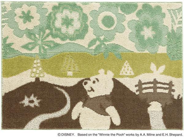 ディズニー スミノエ ラグマットシリーズプー インザウッド ラグ カーペット【サイズ:約100cm×140cm】【日本製】Disney/POOH/In the wood RUG【DRP-1051】くまのプーさん のラグ カーペット