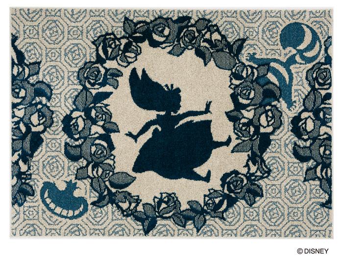 アリス ローズブーケラグ マット【サイズ:約130cm×185cm】【日本製】Disney/ALICE/Rose bouquet RUG【DRA106C】防ダニ加工 床暖房対応 遊び毛防止ディズニー スミノエ ラグマットシリーズ