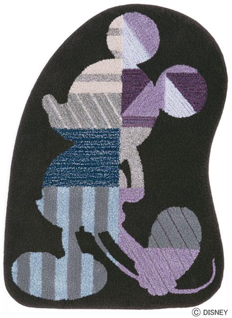 ディズニー スミノエ ラグマットシリーズミッキー モデルフレーム ラグ カーペット【サイズ:最大幅約95cm×130cm】【日本製】Disney/mickey/model frame rug【DRM4020】