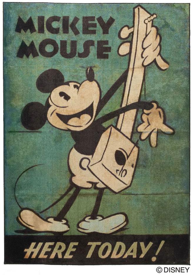 ディズニー スミノエ ラグマットシリーズミッキー ミュージック ラグ カーペット【サイズ:約100cm×140cm】【日本製】Disney/mickey/music rug【DRM1034】