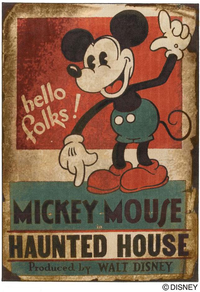 ディズニー スミノエ ラグマットシリーズミッキー ホーンテッドハウス ラグ カーペット【サイズ:約140cm×200cm】【日本製】Disney/mickey/haunted house rug【DRM1035】