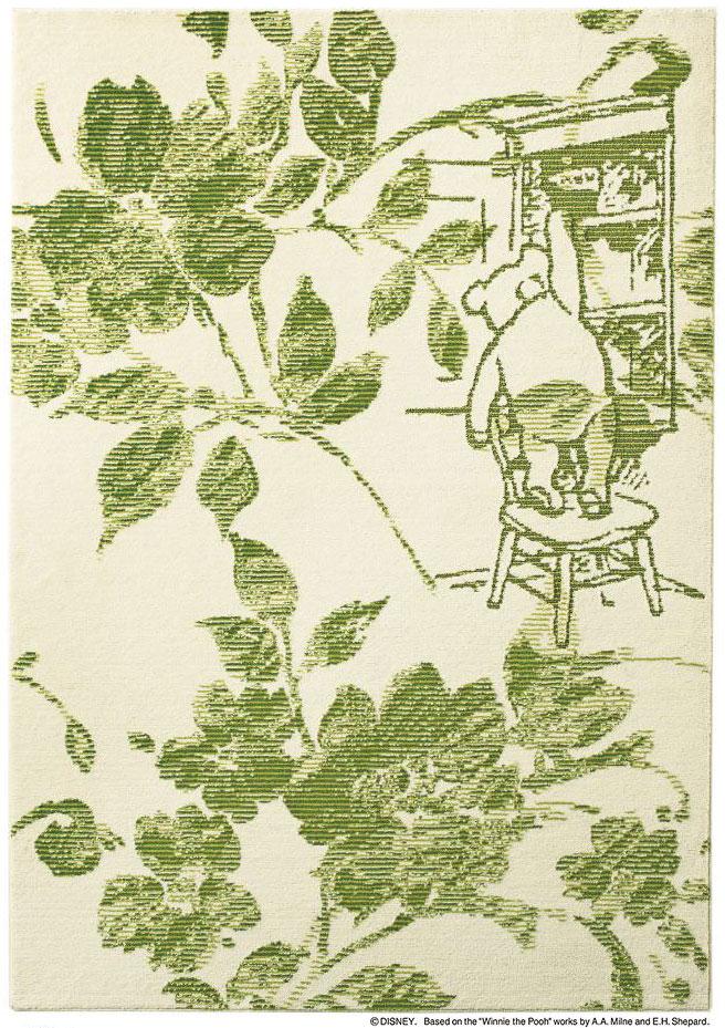 ディズニー スミノエ ラグマットシリーズプー フィオーレ ラグ カーペット【サイズ:約140cm×200cm】【日本製】Disney/POOH/Fiore RUG【DRP-1031】くまのプーさん のラグ カーペット