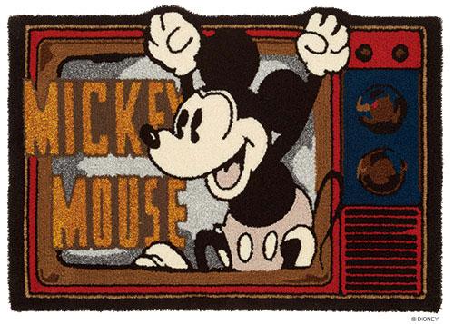 ディズニー スミノエ ラグマットシリーズミッキー フライアウト ラグ カーペット【サイズ:約90cm×130cm】【日本製】Disney/mickey/fly out rug【DRM4047】