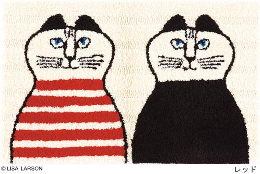 リサ・ラーソン ミンミ マット[QB1308-15・09]日本製【サイズ:約50cm×80cm】デザイナーズブランド 【LISA LARSON】手洗いOK 滑りにくい加工 玄関マット ルームマット