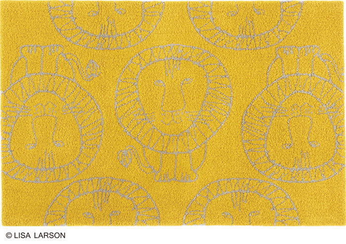 リサ・ラーソン ライオン ラグ マット[QB1102-75]日本製【サイズ:約90cm×140cm】デザイナーズブランド 【LISA LARSON】手洗いOK 滑りにくい加工 ラグマット